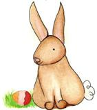 Sight word flashcards with happy rabbit