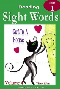 sight word ebook cover of cat in a house
