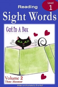 sight word ebook cover of cat in a box