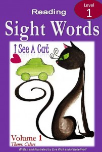sight word ebook cover of i see a cat